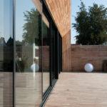 Porte-fenêtre sur mesure sur terrasse